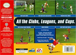 Box back cover for FIFA 99 on the Nintendo N64.