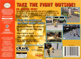 Box back cover for Fighting Force 64 on the Nintendo N64.