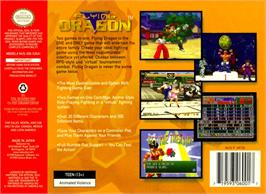 Box back cover for Flying Dragon on the Nintendo N64.