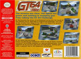Box back cover for GT 64: Championship Edition on the Nintendo N64.