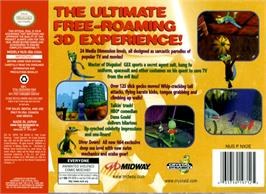 Box back cover for Gex: Enter the Gecko on the Nintendo N64.