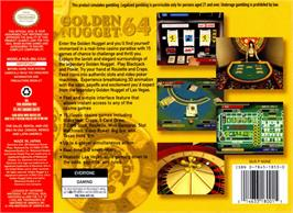 Box back cover for Golden Nugget 64 on the Nintendo N64.