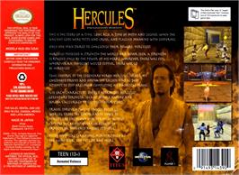 Box back cover for Hercules: The Legendary Journeys on the Nintendo N64.