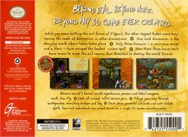 Box back cover for Hexen on the Nintendo N64.
