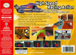 Box back cover for Hot Wheels: Turbo Racing on the Nintendo N64.