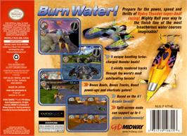 Box back cover for Hydro Thunder on the Nintendo N64.