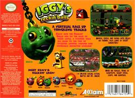 Box back cover for Iggy's Reckin' Balls on the Nintendo N64.
