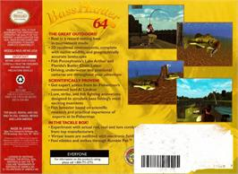 Box back cover for In-Fisherman Bass Hunter 64 on the Nintendo N64.