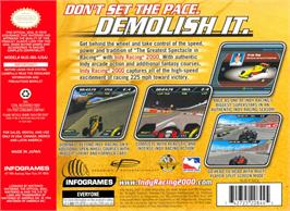Box back cover for Indy Racing 2000 on the Nintendo N64.