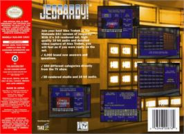Box back cover for Jeopardy on the Nintendo N64.