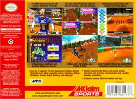Box back cover for Jeremy McGrath Supercross 2000 on the Nintendo N64.