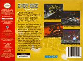 Box back cover for Knife Edge: Nose Gunner on the Nintendo N64.