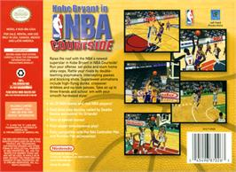 Box back cover for Kobe Bryant's NBA Courtside on the Nintendo N64.