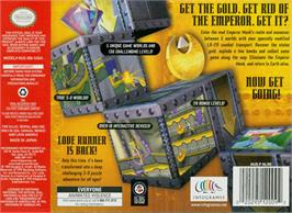 Box back cover for Lode Runner 3D on the Nintendo N64.