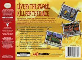 Box back cover for Mace: The Dark Age on the Nintendo N64.