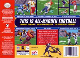 Box back cover for Madden NFL '99 on the Nintendo N64.