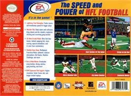 Box back cover for Madden NFL 2000 on the Nintendo N64.