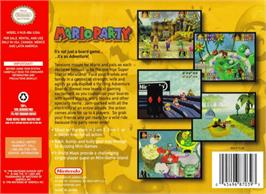 Box back cover for Mario Party on the Nintendo N64.