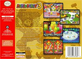 Box back cover for Mario Party 3 on the Nintendo N64.