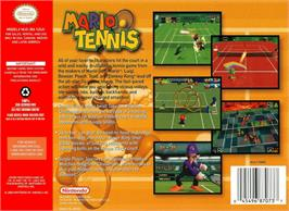 Box back cover for Mario Tennis on the Nintendo N64.