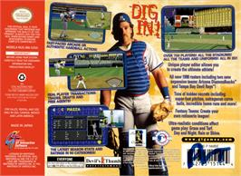 Box back cover for Mike Piazza's StrikeZone on the Nintendo N64.
