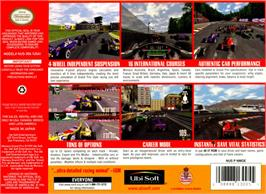 Box back cover for Monaco Grand Prix on the Nintendo N64.
