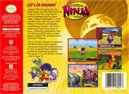 Box back cover for Mystical Ninja Starring Goemon on the Nintendo N64.