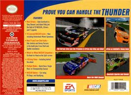 Box back cover for NASCAR 2000 on the Nintendo N64.
