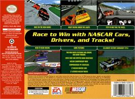 Box back cover for NASCAR 99 on the Nintendo N64.