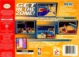 Box back cover for NBA: In the Zone '99 on the Nintendo N64.