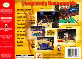 Box back cover for NBA: In the Zone 2000 on the Nintendo N64.