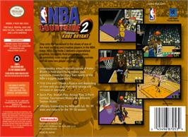 Box back cover for NBA Courtside 2: Featuring Kobe Bryant on the Nintendo N64.
