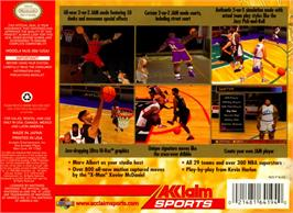 Box back cover for NBA Jam 2000 on the Nintendo N64.