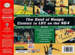 Box back cover for NBA Live '99 on the Nintendo N64.