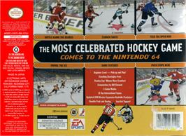 Box back cover for NHL 99 on the Nintendo N64.