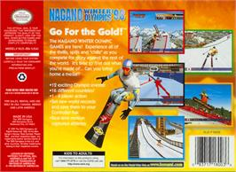 Box back cover for Nagano Winter Olympics '98 on the Nintendo N64.