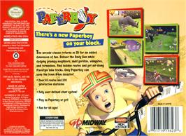 Box back cover for Paperboy on the Nintendo N64.