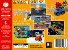 Box back cover for Penny Racers on the Nintendo N64.