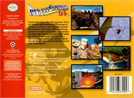 Box back cover for Pilotwings 64 on the Nintendo N64.