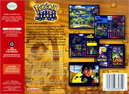 Box back cover for Pokemon Puzzle League on the Nintendo N64.