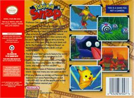Box back cover for Pokemon Snap on the Nintendo N64.