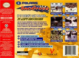 Box back cover for Polaris SnoCross on the Nintendo N64.