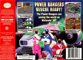 Box back cover for Power Rangers: Lightspeed Rescue on the Nintendo N64.