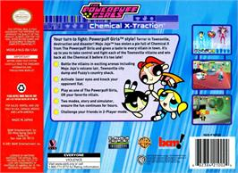 Box back cover for Powerpuff Girls: Chemical X-Traction on the Nintendo N64.