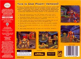 Box back cover for Quake 2 on the Nintendo N64.