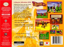 Box back cover for Quest 64 on the Nintendo N64.