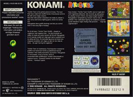 Box back cover for Rakugakids on the Nintendo N64.