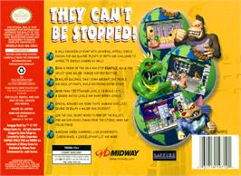 Box back cover for Rampage: World Tour on the Nintendo N64.