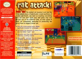 Box back cover for Rat Attack on the Nintendo N64.