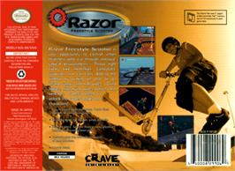 Box back cover for Razor Freestyle Scooter on the Nintendo N64.